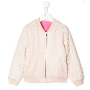Chloe Pink Quilted Sleeves Bomber Jacket (Girls 6)